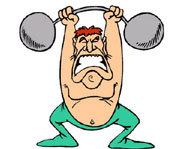 Weight lifting is a health part of a regular exercise routine.