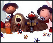 The characters of Magic Roundabout. It was one of the big hits in the UK.