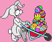 Sometimes, the Easter Bunny needs a big cart to load all those chocolate eggs.