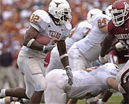 Photo of Vince Young, while playing for the University of Texas.