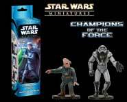 We have exclusive sneak-peek previews of the Star Wars Miniatures: Champions of the Force expansion set!