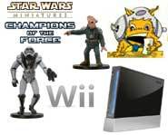 Get the 411 on the Nintendo Wii and exclusive previews of the new figs from the Star Wars Miniatures: Champions of the Force expansion set!