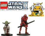 We have the scoop on LEGO Star Wars II and the Star Wars Miniatures: Champions of the Force expansion set from Wizards!