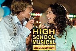 Zac Efron and Vanessa Anne Hudgens star in the Disney Channel movie, High School Musical.