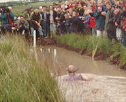 Picture of the World Bog Snokeling Championships in Wales.
