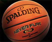Photo of the Spalding Neverflat Basketball.