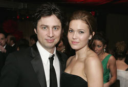Mandy Moore and Zach Braff broke up in June 2006.
