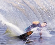 Photo of water skier.