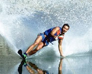 Picture of a water skier.