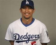 Picture of LA Dodgers' first baseman, Nomar Garciaparra.