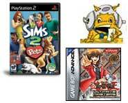 Get the 411 on Yu-Gi-Oh! world championship tournament and EA's new The Sims 2 Pets video game!