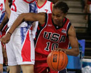 Photo of WNBA basketball star, Tamika Catchings.