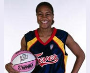 Picture of Tamika Catchings, who plays for the WNBA's Indiana Fever.