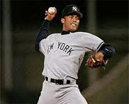 Mariano Rivera pitches the ball at 100 miles per hour.