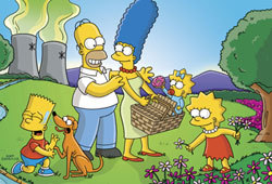 The Simpsons celebrated their 350th episode on May 1, 2005.
