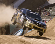 Picture of rally car driver, Tanner Foust, at X Games 12.
