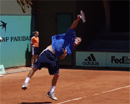 Photo of Philip Bester at the 2006 French Open.