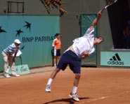 Picture of Philip Bester at the 2006 French Open.