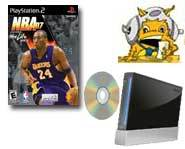 Get the scoop on free games for the Nintendo Wii and the NBA all-star o the cover of Sony