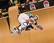 Photo of skateboarder, Cara Beth Burnside, at the X Games.