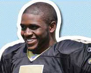 Photo of Reggie Bush of the New Orleans Saints.