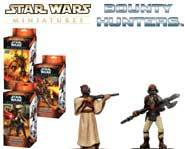 We have exclusive sneak-peek previews of the Star Wars Miniatures: Bounty Hunters huge expansion set!