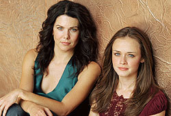 Lauren Graham and Alexis Bledel star in the primetime drama, The Gilmore Girls.