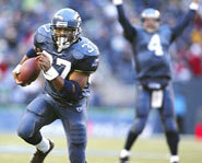 Photo of running back, Shaun Alexander, of the Seattle Seahawks.