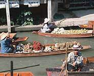 Part of the Thailand floating market.