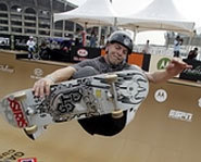Picture of Canadian skateboarder, Pierre-Luc Gagnon at the X Games.