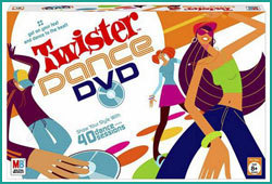 Plan a dance off for your next sleepover with the Twister Dance DVD board game.
