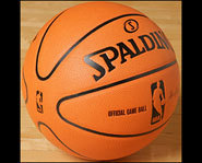 Picture of the new Spalding NBA Basketball.