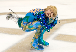 Jon Heder broke an ankle filming a skating scene in Blades of Glory.