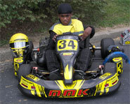 Photo of teen kart racer, Levon Bates Jr.