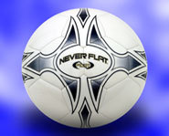 Picture of the Spalding Never Flat Soccer Ball.