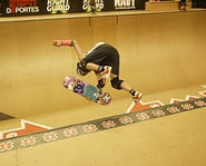 Picture of skateboarder, Lyn-Z Adams Hawkins at the X Games
