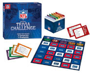 The NFL Gridiron Trivia Challenge board game.