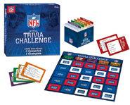 The NFL Gridiron Trivia Challenge board game.