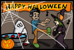 Simon blogs about Halloween in his online teen journal.