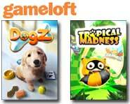 Give your <B>cell phone</B> a boost with a <B>Gameloft</B> mobile phone game! We <B>review</B> <B>Tropical Madness</B> and <B>Dogz</B> games right here.