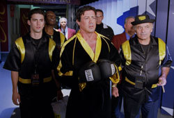 Sylvester Stallone returns as boxing champion Rocky Balboa.