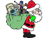 Santa Claus' sack is filled with gifts galore!