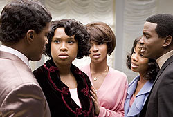 Jennifer Hudson and Beyonce Knowles star in the movie version of Dreamgirls.