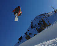 The Super Duper Pipe at Mammoth Mountain in California.