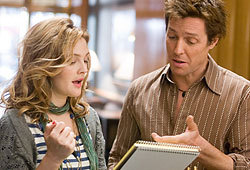 Hugh Grant and Drew Barrymore star in the romantic comedy, Music and Lyrics.