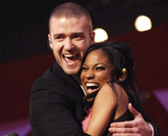 Robyn Troup won a competition to sing with Justin Timberlake at the Grammy's after being kicked off American Idol.