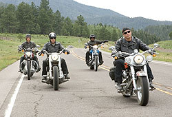 John Travolta, Tim Allen, Martin Lawrence and William H. Macy star in Wild Hogs.