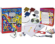 Conduct cool experiments, like making rainbow milk, with The Mysteries of Rainbows science kit!