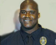NBA player Shaquille O'Neal also works as a part-time police officer.