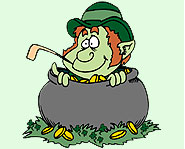 The St. Patrick's Day leprechaun has a huge stash of gold hidden away!